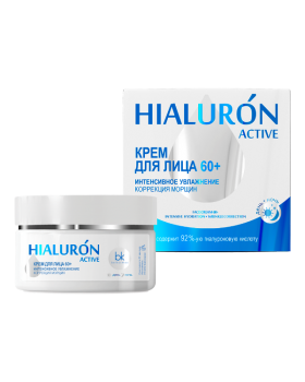 Крем для лица 60+ интенсивное увлажнение коррекция морщин Hialuron Active