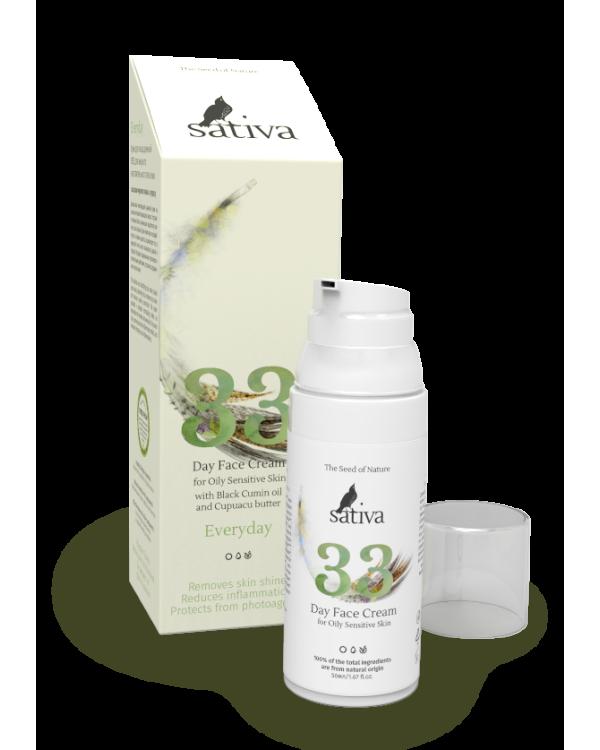 Крем для лица дневной для жирного чувствительного типа кожи №33