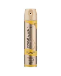 Лак-БЛЕСК для волос с протеинами ШЕЛКА ультрасильной фиксации
